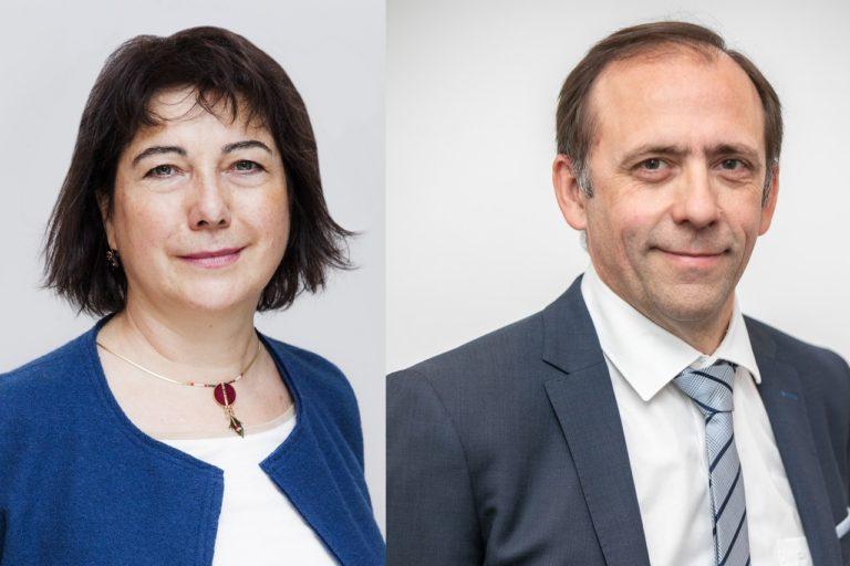 Marie-Line Pesquidoux, Secrétaire générale du Groupe STEF et Damien Chapotot, Directeur général délégué de STEF Transport