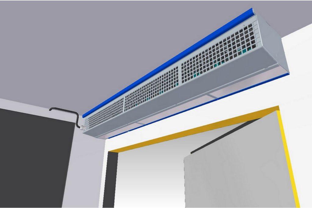 Brightec propose une nouvelle génération de rideaux d'air BlueSeal avec une unité BlueControl intégrée.