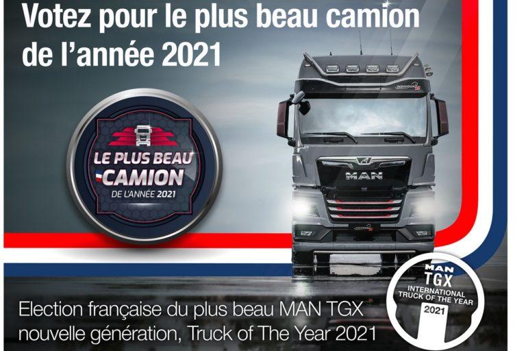 Le jeu concours du plus beau camion de MAN a été lancé le 17 mai. Les 3 finalistes recevront des lots d'une valeur de 1 000 à 5 000 euros.