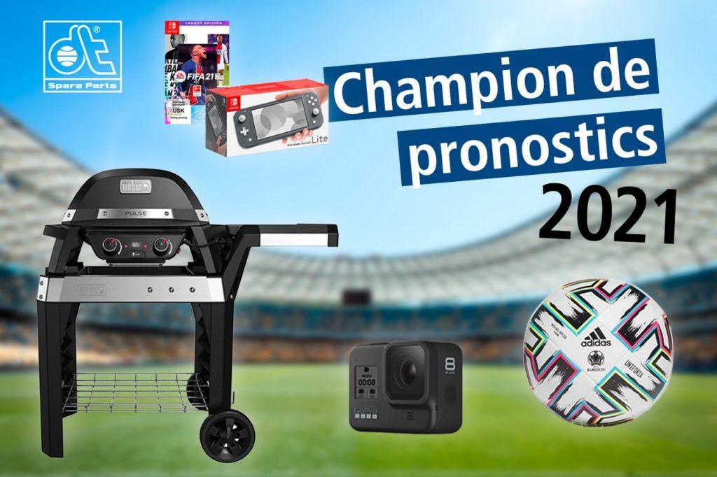 """DT Spare Parts vient de lancer la nouvelle édition de son jeu de pronostics """"DT Spare Parts Champion 2021""""."""