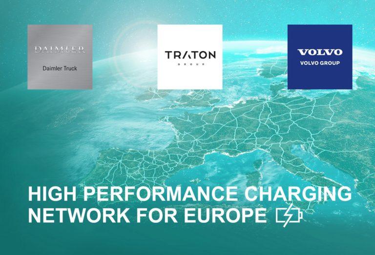 Daimler Truck, le groupe Traton et le groupe Volvo prévoient d'être les pionniers d'un réseau européen de recharge hautes performances pour les poids lourds.