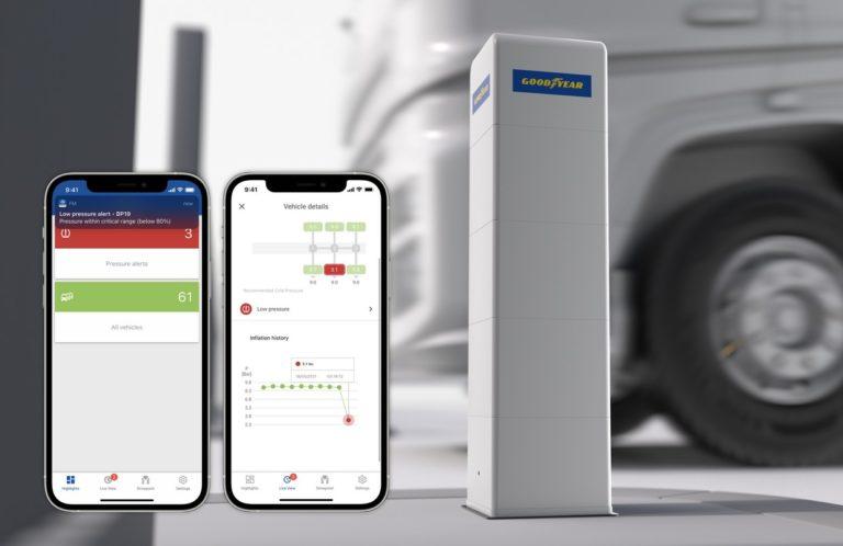Goodyear présente DrivePoint, un nouveau moyen économique de contrôler la pression des pneumatiques pour les transporteurs.